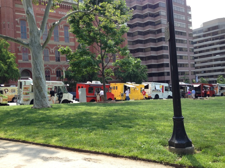 Food trucks on the east side of Franklin Park