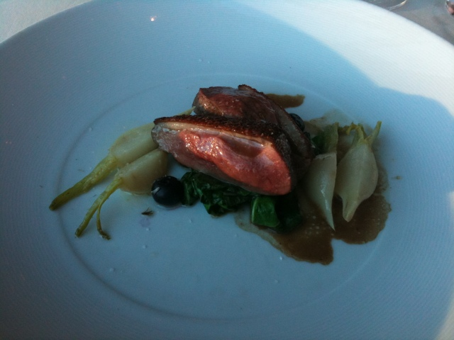 Duck Breast - part of my tasting menu at The American.